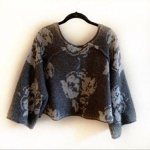 Free People Wool Blend Crop Sweater Sz M